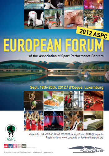 2012 ASPC EUROPE CONTINENTAL FORUM September 18th-20th