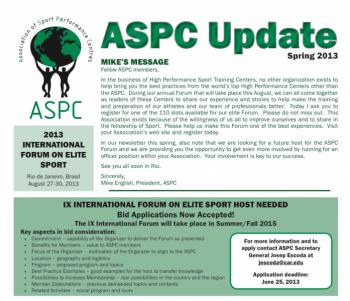 ASPC Update Newsletter Spring 2013
