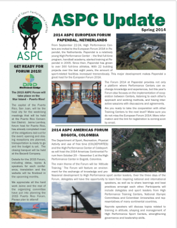 ASPC Update Newsletter Spring 2014