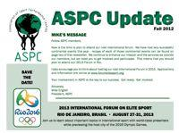 ASPC Update Newsletter Fall 2012